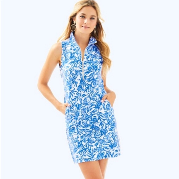 Lilly Pulitzer Dresses & Skirts - Lilly Pulitzer Skipper Sleeveless Dress Blue White